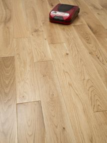 NATURE  90MM SOLID OAK RUSTIC  LACQUERED