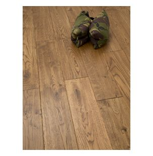 NATURE 130MM SOLID OAK WHEAT HANDSCRAPED LACQUERED